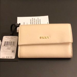 Brand New DKNY leather card case with tags